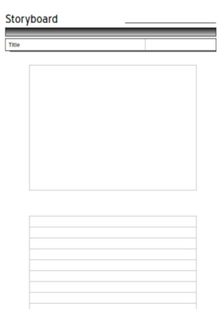 Titile Storyboard Template