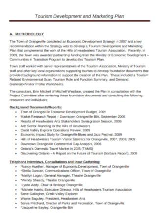 Tourism Development and Marketing Plan