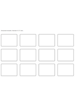 Tv Ratio Storyboard Template