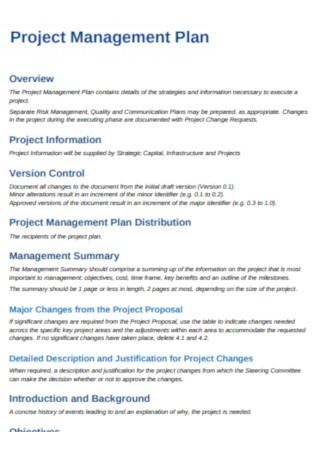 University Project Management Plan