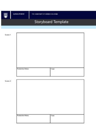 University Storyboard Template