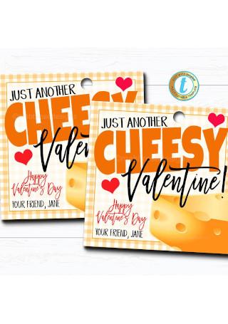 Valentines Cheesy Gift Tag