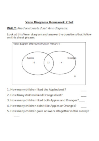 Venn Diagram Homework Template
