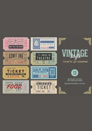 Vintage Tickets and Coupons Bundle