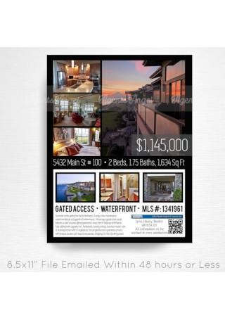 ustom Real Estate Home Sales Flyer