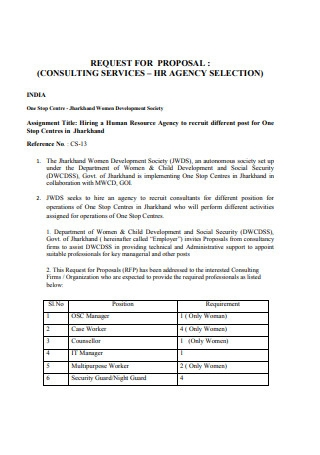 Agency Consulting Proposal Template