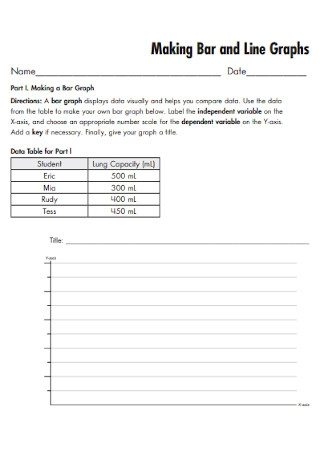Bar and Line Graphs Template