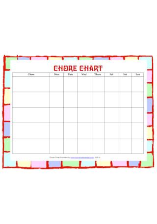 Basic Chore Chart for kids Template