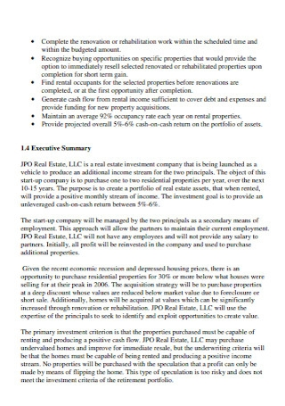 Business Proposal for Real Estate Template
