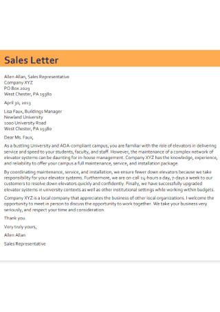 Business Sales Promotion Letter