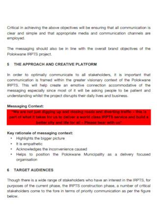 Construction Project Management Communication Plan
