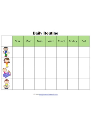 Daily Routine and Kid Chore Charts