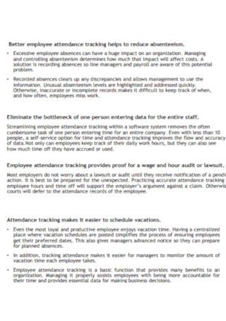 Employee Vacation Tracker Brochure Template