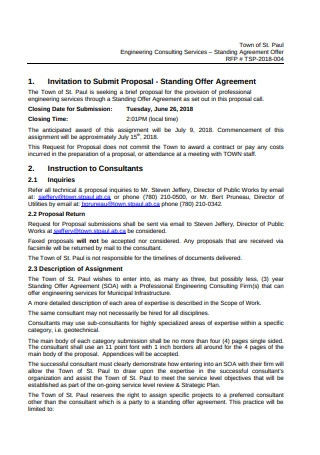 Engineering Consulting Services Proposal Template