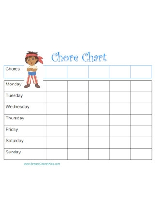 Formal Chart chore kids Example