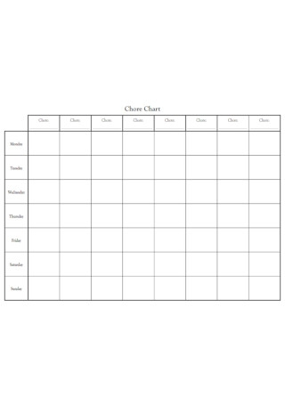 Formal Chore Chart kids