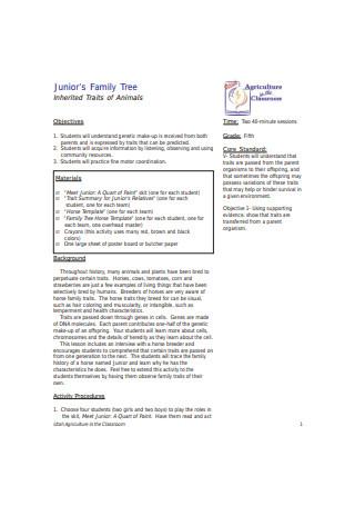 Junior's Family Tree
