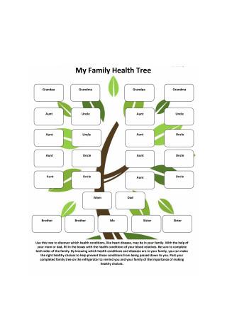 My Family Health Tree