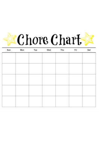 Printable Chore Chart kids