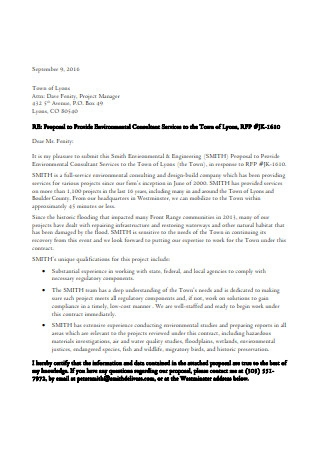 Proposal to Provide Environmental Consultant Service Template