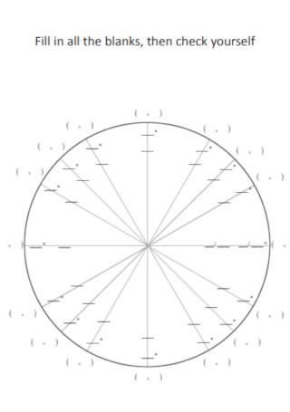 Prtintable unit Circle Diagram Template