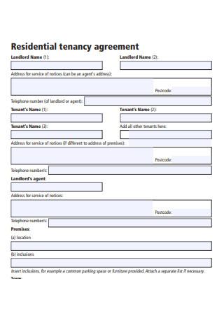 Residential Tenancy Agreement Letter