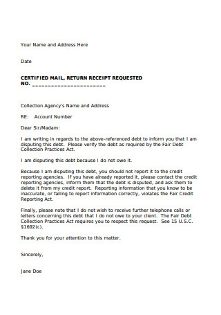 Sample Collection Agent Letter