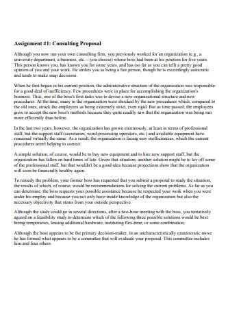 Sample Consulting Proposal Template