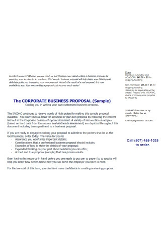 Sample Corporate Business Proposal Template