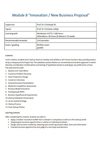 Sample New Business Proposal Template