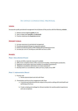 Sample Office Consulting Service proposal Template