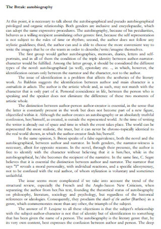 Sample Patterns in Autobiography Speech Template