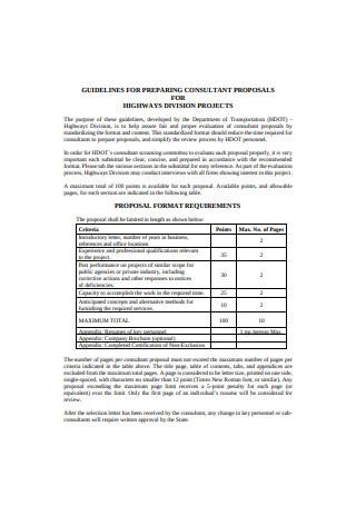 Sample Preparing Consulting Proposal