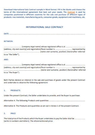 Simple Bill of Sale Contract