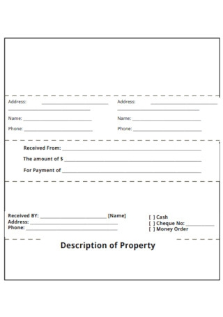 Simple Rental Receipt Template