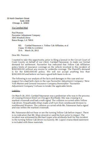 Standard Demond Letter