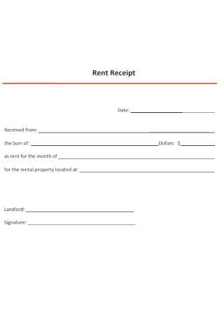 Standard Rent Receipt