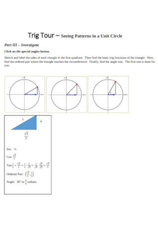 Trig Tour for unit Circle Template