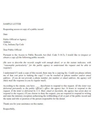 Agency Detailed Letter
