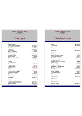 Balance Sheet ad Profot and Loss Statement