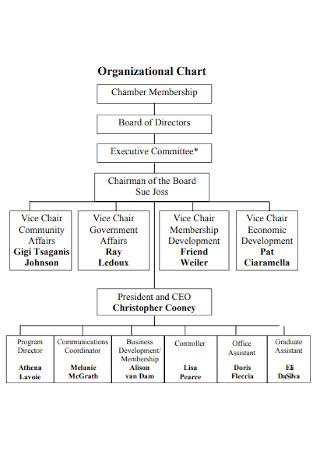 Basic Business Organizational Chart