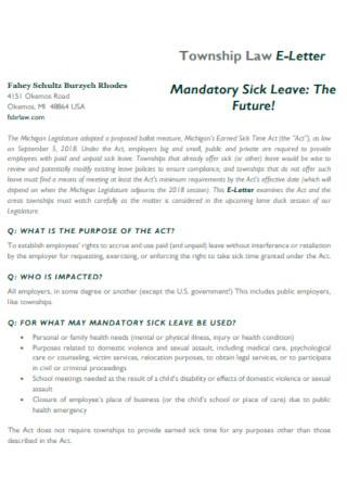 Basic Mandatory Sick Leave Template