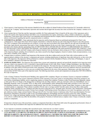 Binding Inspection Contract Template