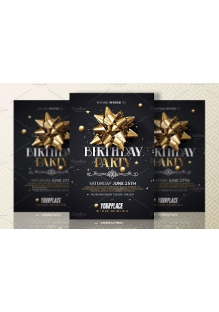 Birthday Party invitation Template