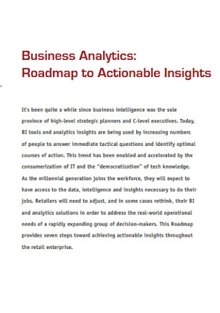 Business Analytics Roadmap Template