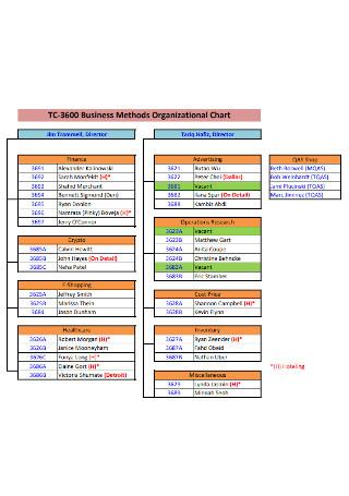 Business Detailed Organizational Chart