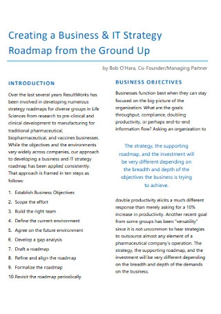 Business IT Strategy Roadmap Template