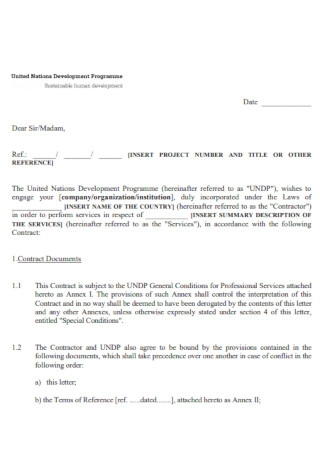 Comapny Consulting Services Contract Template