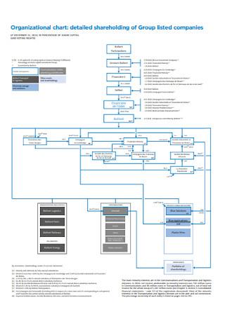 Comapny Detailed Organizational Chart