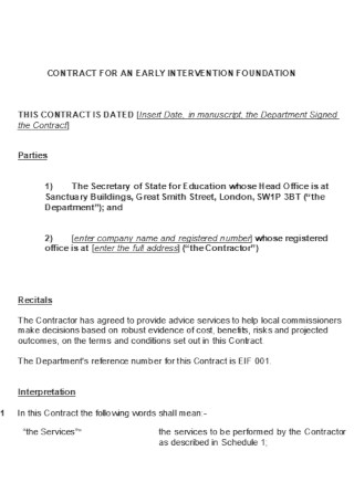 Company Foundation Contract Temlate